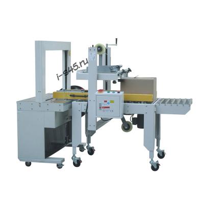 Автомат для заклейки скотчем и обвязки лентой гофрокоробов модель AS-50+SDB-50
