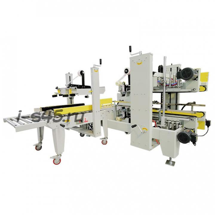 Полуавтоматический станок для заклейки скотчем углов и сторон гофрокоробов и обвязки их лентой купить