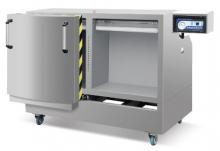 Вакуумная упаковочная машина вертикального типа с двумя камерами для упаковывания продуктов различных типов