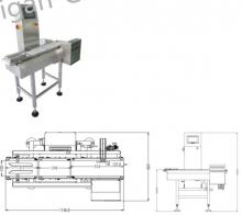 Контрольно-динамические весы SG-150 чеквейер продукции