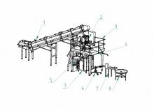 Оборудование для фасовки сыпучего творога в пакеты
